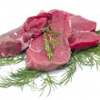 Fresh and raw beef steak — Stock Photo