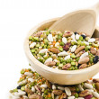 Dried legumes in basket — Stock Photo #19962747