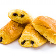 Stock Photo: Fresh and tasty buns with raisins