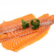 Stock Photo: Salmon fillet decorated with parsley