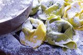 Making ravioli pasta noodles — Photo