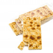 Integral crackers on white background — Stock Photo