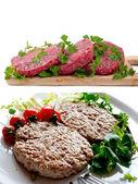 Collage de hamburguesas — Foto de Stock