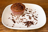 Chocolat muffin con fette di chocolat — Foto Stock