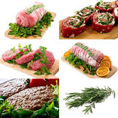 Meats collage — Stockfoto