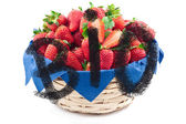 Basket of strawberries - biological — Stock Photo