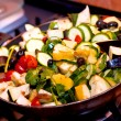 Stock Photo: Ratatouille cooking closeup