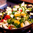 Ratatouille cooking closeup - Stock Photo