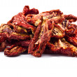 Stock Photo: Delicious Dried tomatoes on white background
