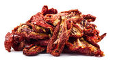 Delicious Dried tomatoes on white background — Stockfoto
