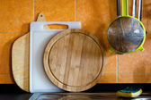 Kitchen cutting boards — Stock Photo