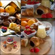 Stock Photo: Images Fruits breakfast on sun light morning