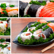 Stock Photo: Sushi images