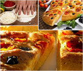 Apulian italian focaccia images — Stock Photo
