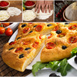 Italian focaccia images — Stock Photo