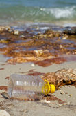 Waste accumulates on the beach — Stock Photo