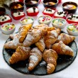 Croissants on white table — Stock Photo