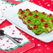 Fruitcake for happy christmas — Stock Photo