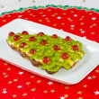 Fruitcake for happy christmas  — Stok fotoğraf