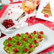 Stock Photo: Fruitcake for happy christmas