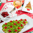 Fruitcake for happy christmas — Stock Photo #35332233