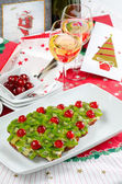 Fruitcake for happy christmas — Stockfoto