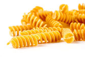 Mixed italian pasta in white background — Stock Photo