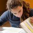 Student girl studying her lessons — Stock Photo #36904427