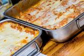 Traditional italian pasta callad lasagna — Stock Photo