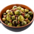 Stock Photo: Fried Brussel Sprouts with Ham