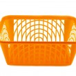 Stock Photo: Plastic basket on white background