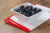 Blueberries on white cup  — Stock fotografie