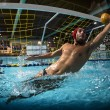 A water polo goalkeeper — Stock Photo #50644019
