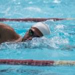 Free style swimmer on sun light — Stock Photo #50648905