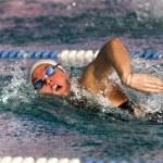 A woman swimming free style — Stock Photo #51798317
