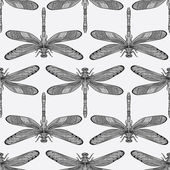 Dragonflies seamless pattern — Stock Vector