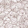 Stock Vector: Seamless pattern with shells
