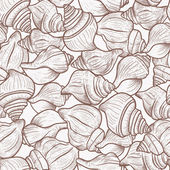 Seamless pattern with shells — Stock Vector