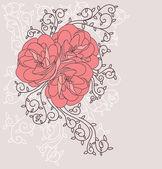 Dog rose background — Stock Vector