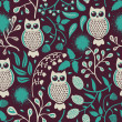 Owls seamless pattern — Stock Vector #16940525