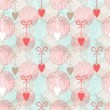 Abstract seamless pattern with hearts — Stock Vector #18697217