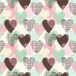 Hearts seamless pattern — Stock Vector