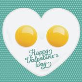Corazón de huevos — Vector de stock