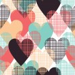 Stock Vector: Hearts seamless pattern