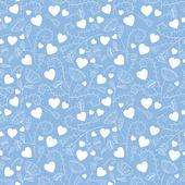 Padrão de corações sem costura dos namorados. ilustração vetorial — Vetorial Stock