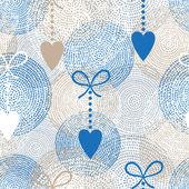 Abstracte naadloze patroon met hart — Stockvector