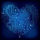 芯片的心 — 图库矢量图片