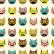 Cats seamless pattern — Stock Vector #18990769
