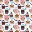 Cakes seamless pattern — Stock Vector #22217175