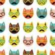 Cats seamless pattern — Stock Vector #22261703